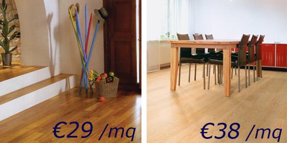 Prezzi parquet economici, vendita pavimenti legno low cost